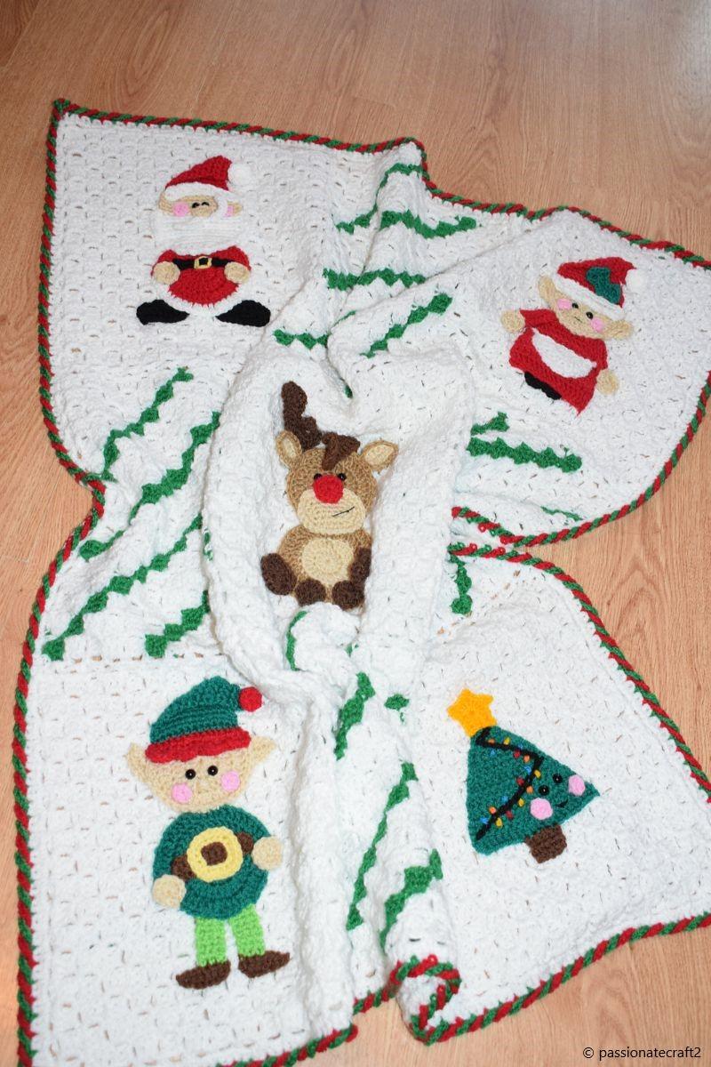 Christmas Applique Baby Blanket