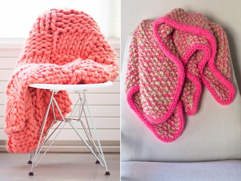 Free Patterns Chunky Knitted Blankets