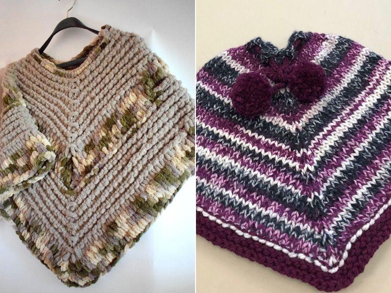 Free Knitting Patterns Chunky Ponchos for Kids