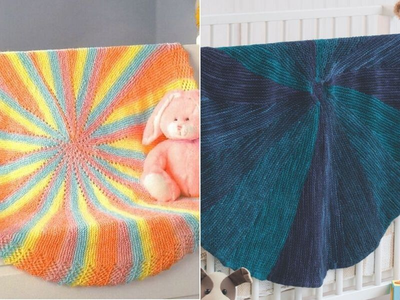 Circular Knitted Blankets Free Patterns