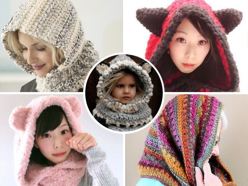 Free Crochet Patterns: Cozy Hooded Cowls