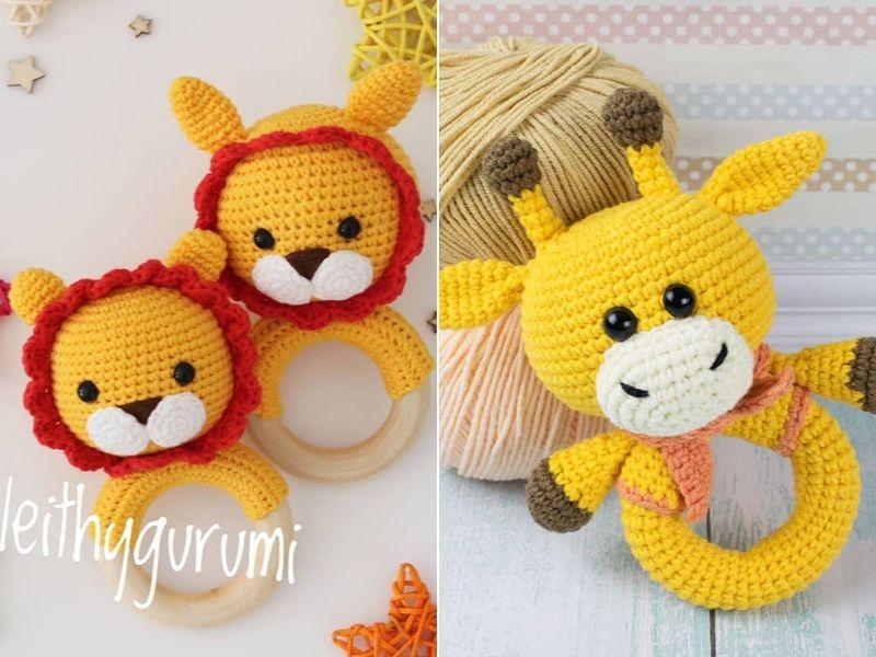 Free Patterns Crochet Baby Rattles