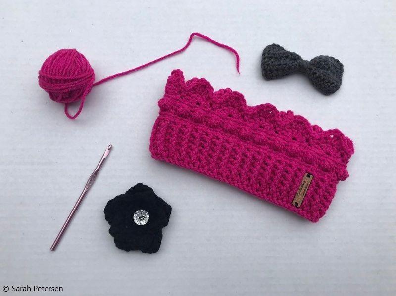 Crochet Pattern Crown Ear Warmer