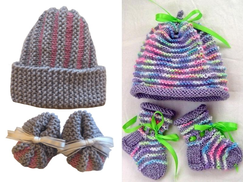Free Knitting Patterns Cute Knitted Baby Sets