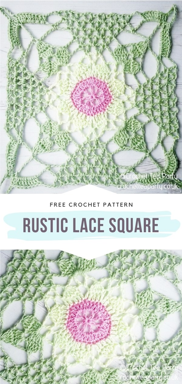 Crocheted Lace Square