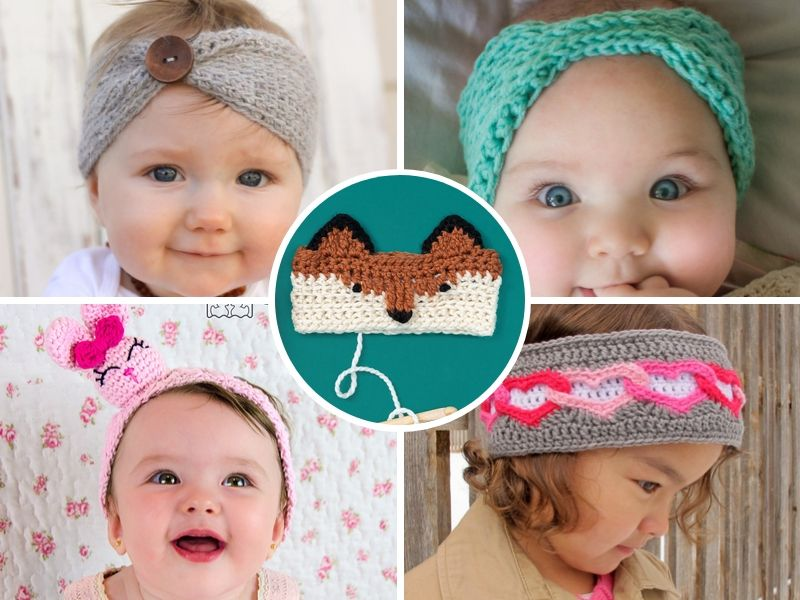 Free Crochet Patterns Darling Headbands for Kids