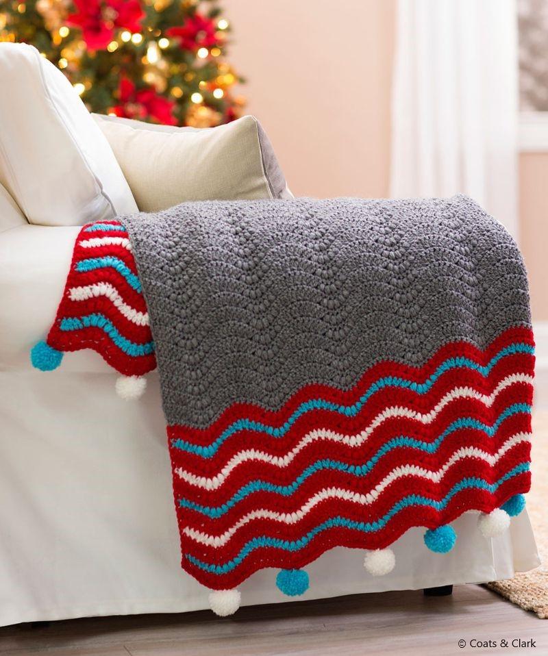 Crochet Holiday Throw