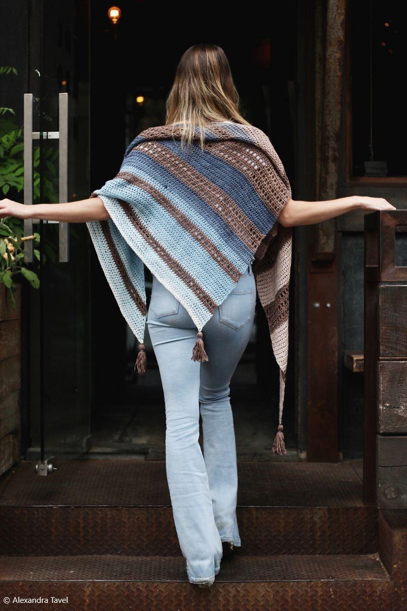 Crochet Grey Wrap