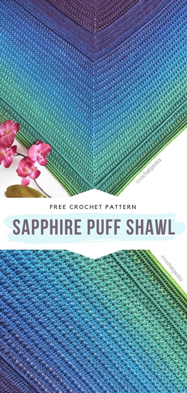 Crochet Puff Stitch Shawl