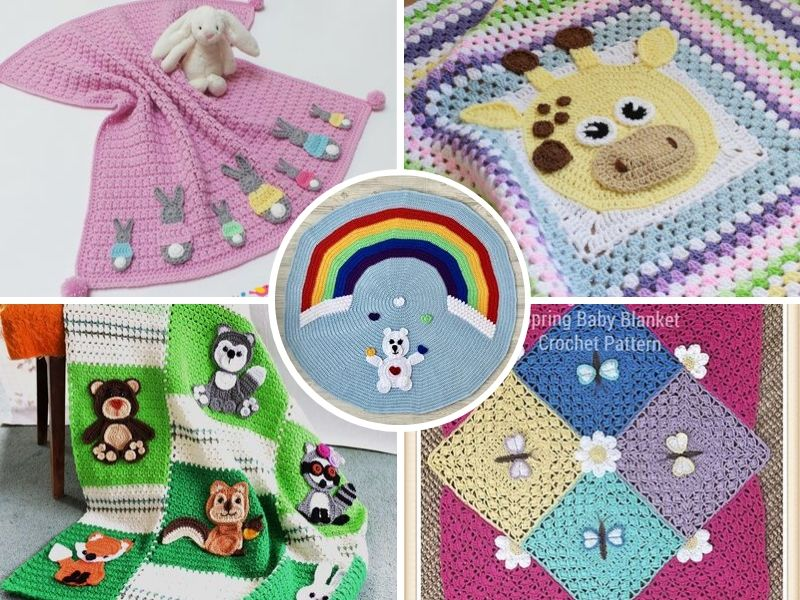 Fabulous Applique Baby Blankets
