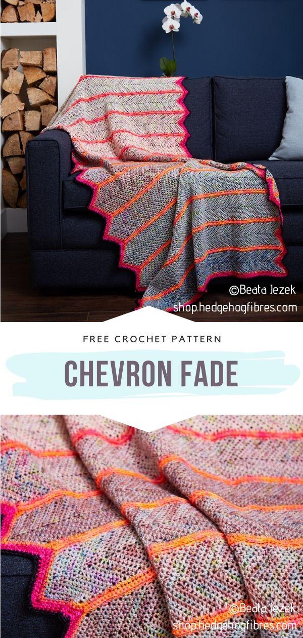 Crocheted Chevron Throw