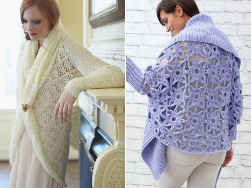Free Patterns Glamorous Crochet Cardigans