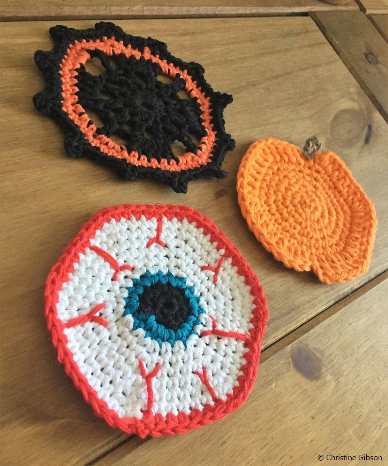 Halloween Crochet Coasters