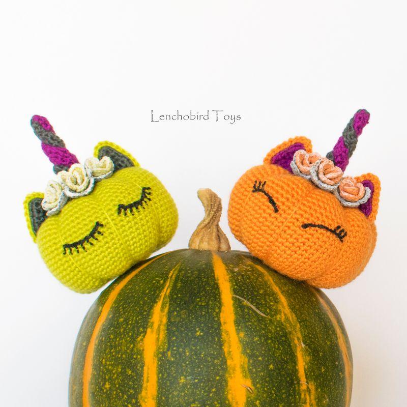Pumpkin Unicorn Amigurumi