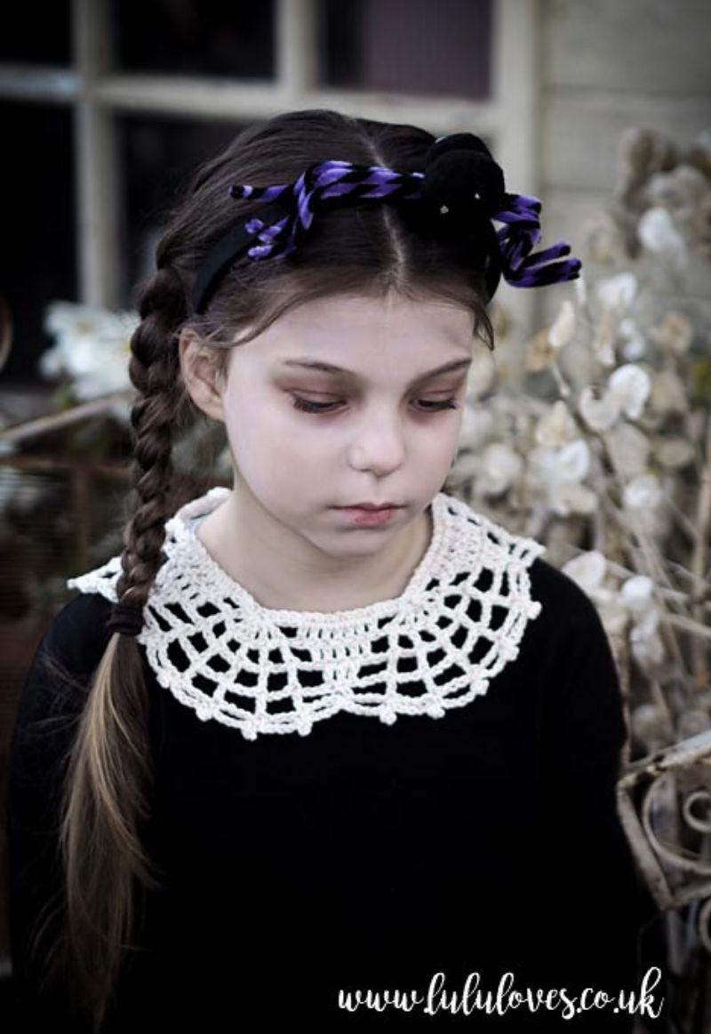Crochet Halloween Web Collar