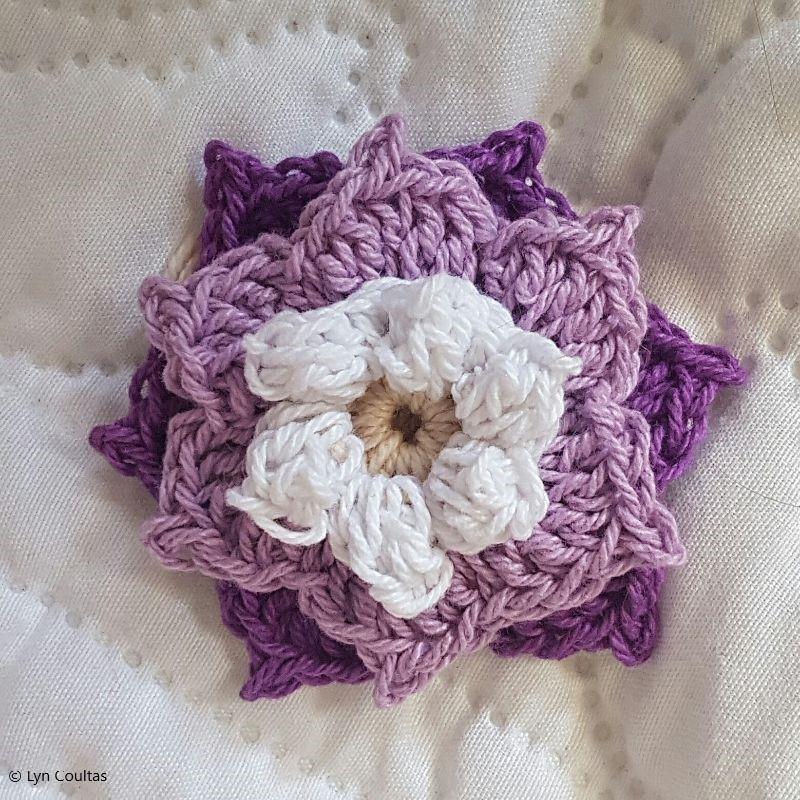 Crochet Flower Applique