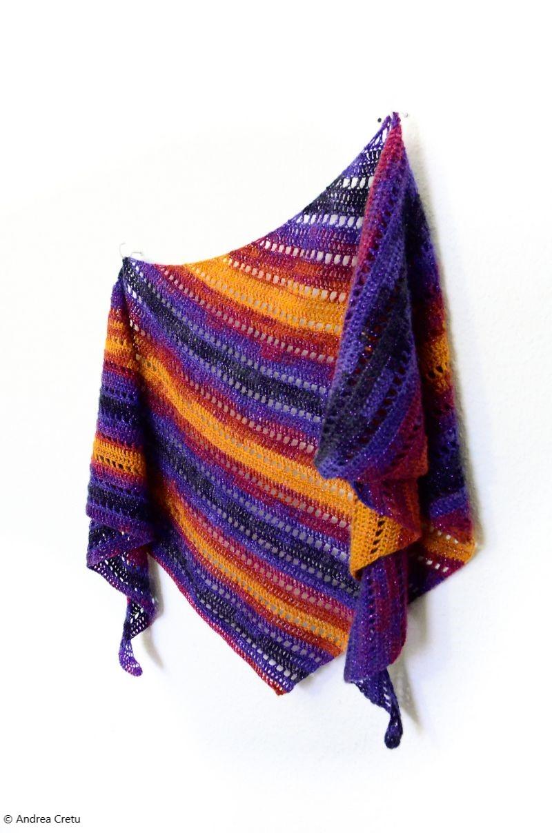 Free Crochet Pattern Kizilkaya Crescent Shawl