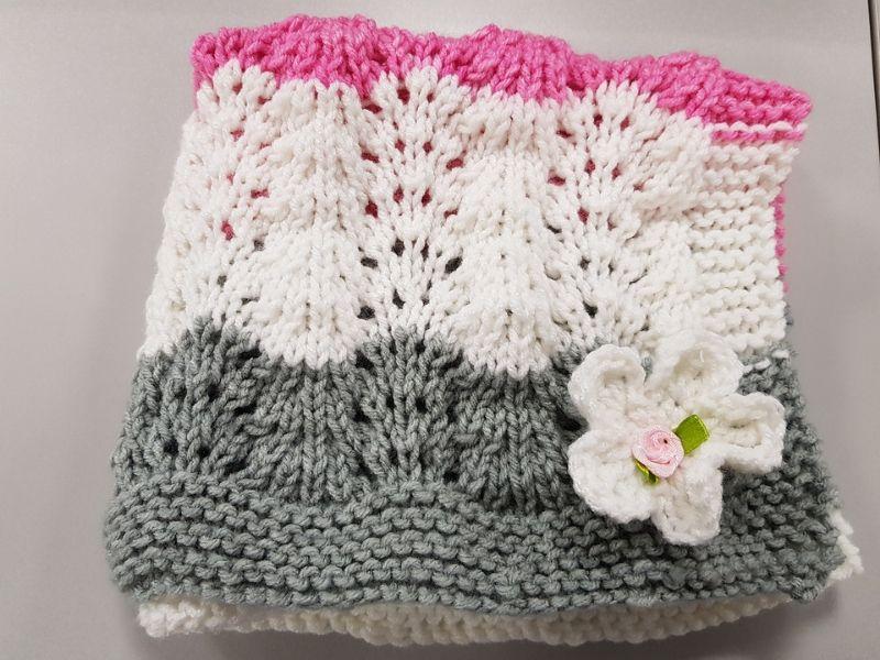 Free Knitting Patterns Soft Ripple Baby Blankets