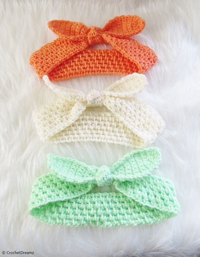 Free Crochet Pattern Knot Me Up Headband