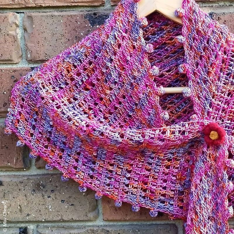Crochet Pattern Lacy Boba Shawlette