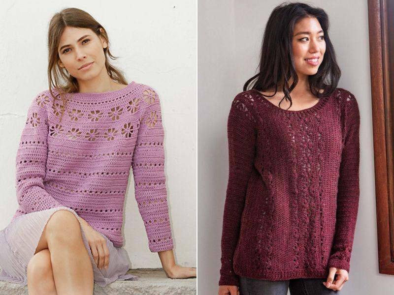 Free Crochet Patterns Lightweight Crochet Pullovers