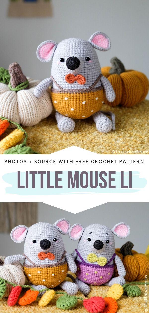 Free Crochet Pattern Little Mouse Li