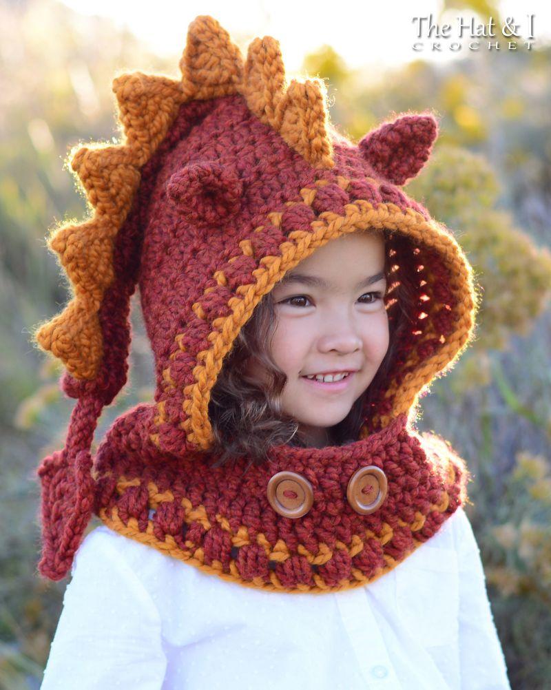 Lucky Dragon Hood & Cowl Crochet Pattern