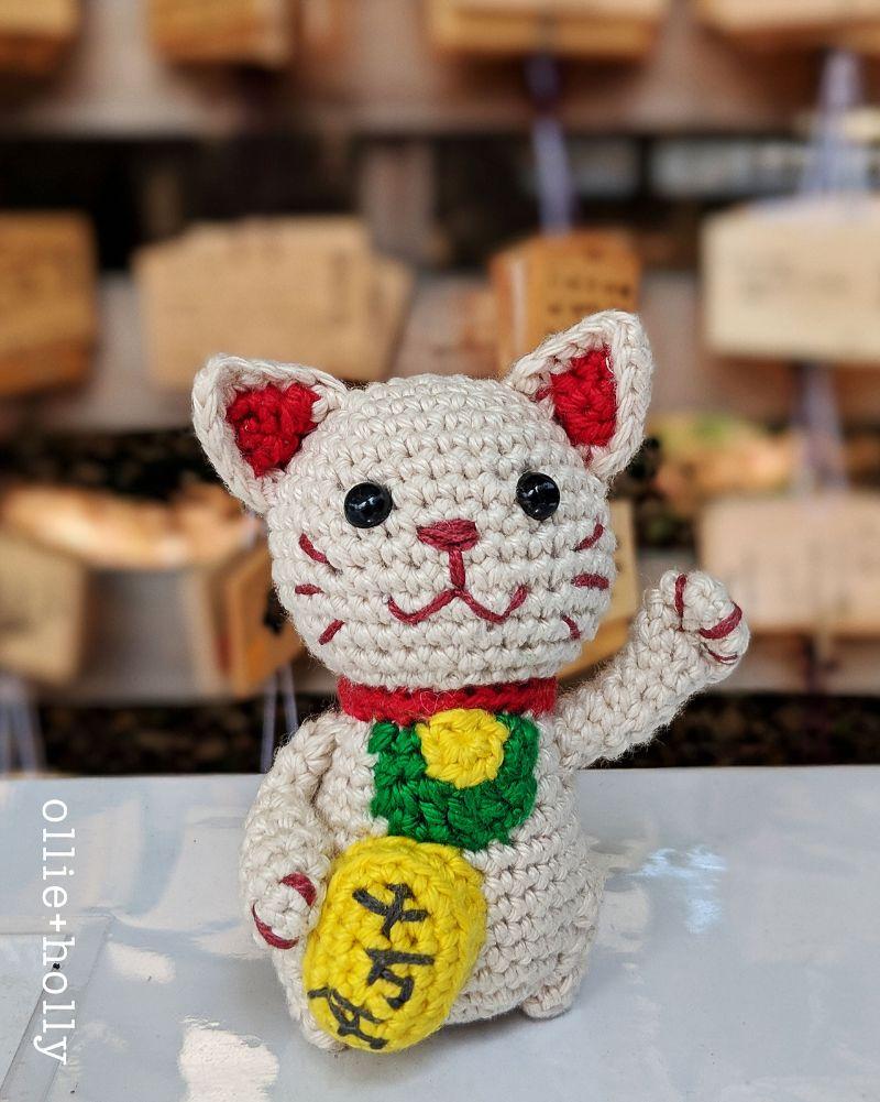 Free Crochet Pattern Maneki Neko (Lucky Cat)