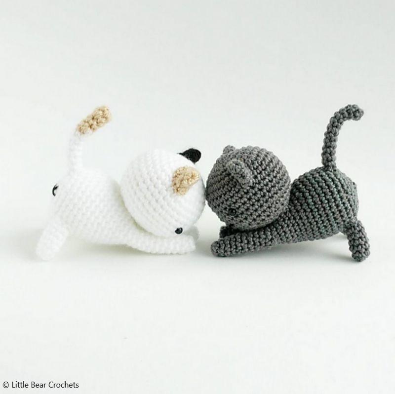 Free Crochet Pattern Neko Atsume: Playing Cat Amigurumi