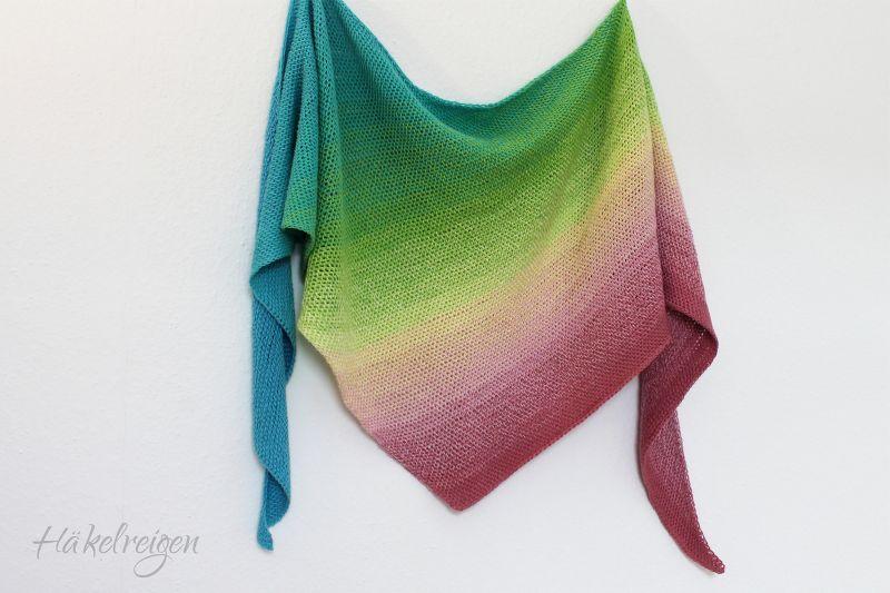 Free Crochet Pattern Easy Rainbow Shawl Nereide