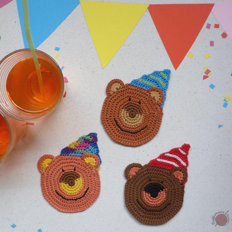 Crochet Animals Patterns - Bear Coasters
