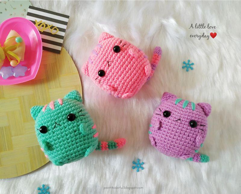 Free Crochet Pattern Pastel Pusheen Amigurumi