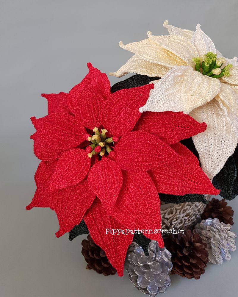 Poinsettia Crochet Flower