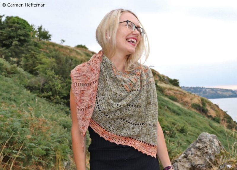 Free Crochet Pattern Space Fade Shawl