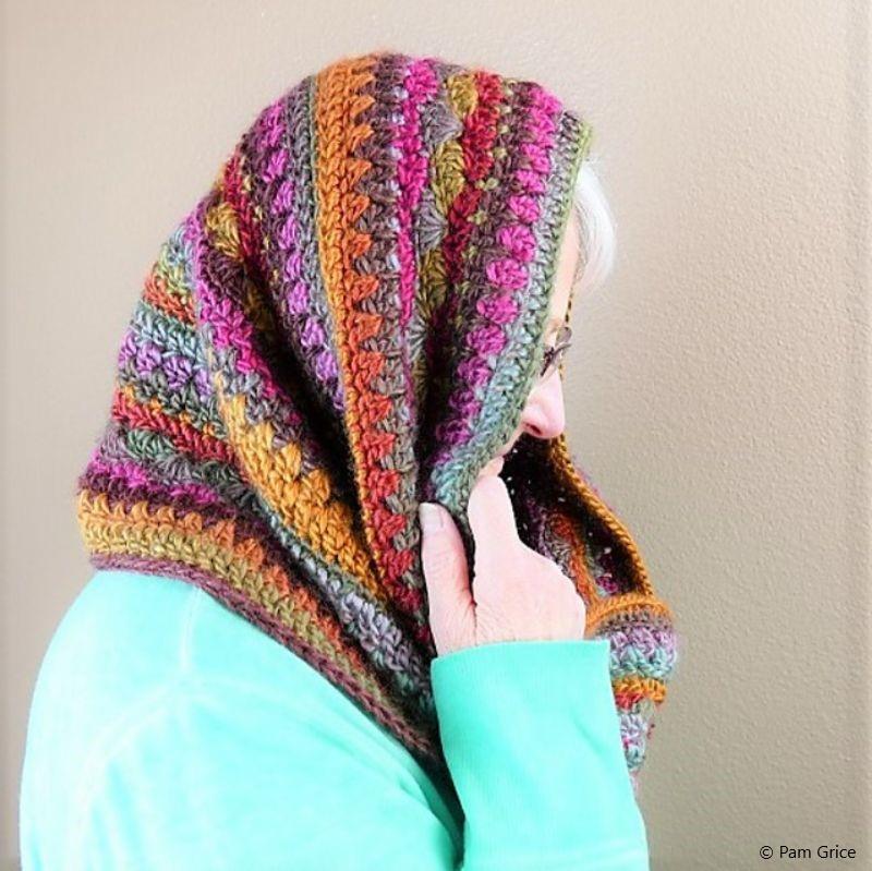 Sweet Harmony Hooded Cowl Free Crochet Pattern