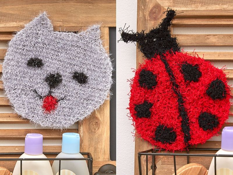Free Patterns Sweet Knitted Scrubbies