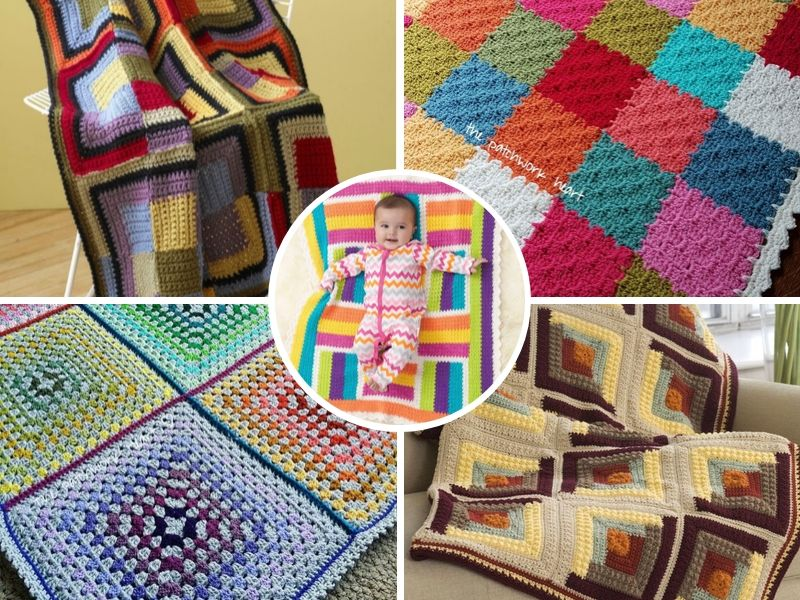 Free Crochet Patterns: Terrific Patchwork Blankets