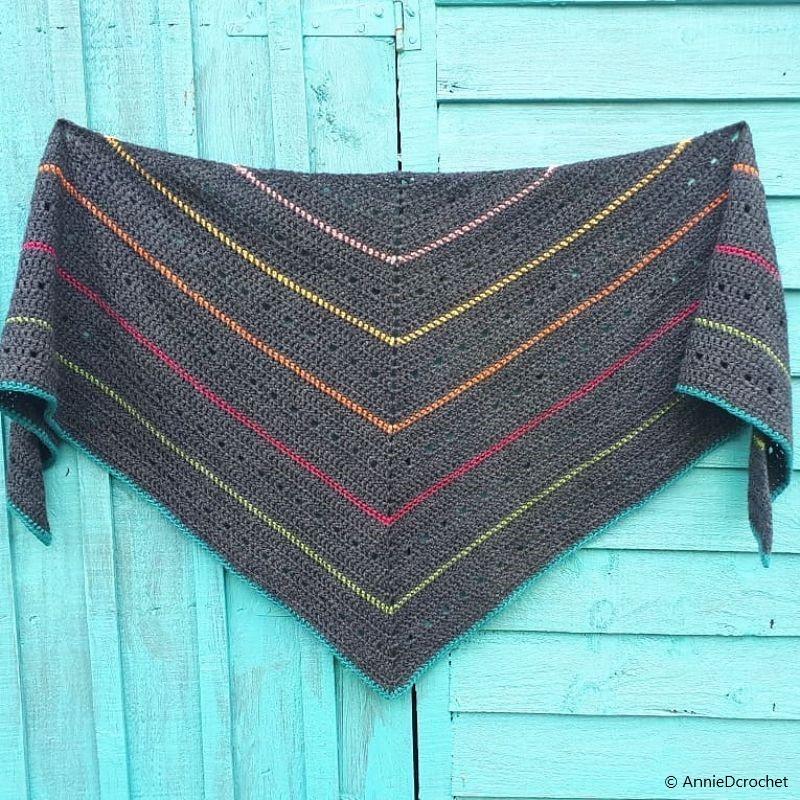 Crochet Pattern The Grainbow Shawl