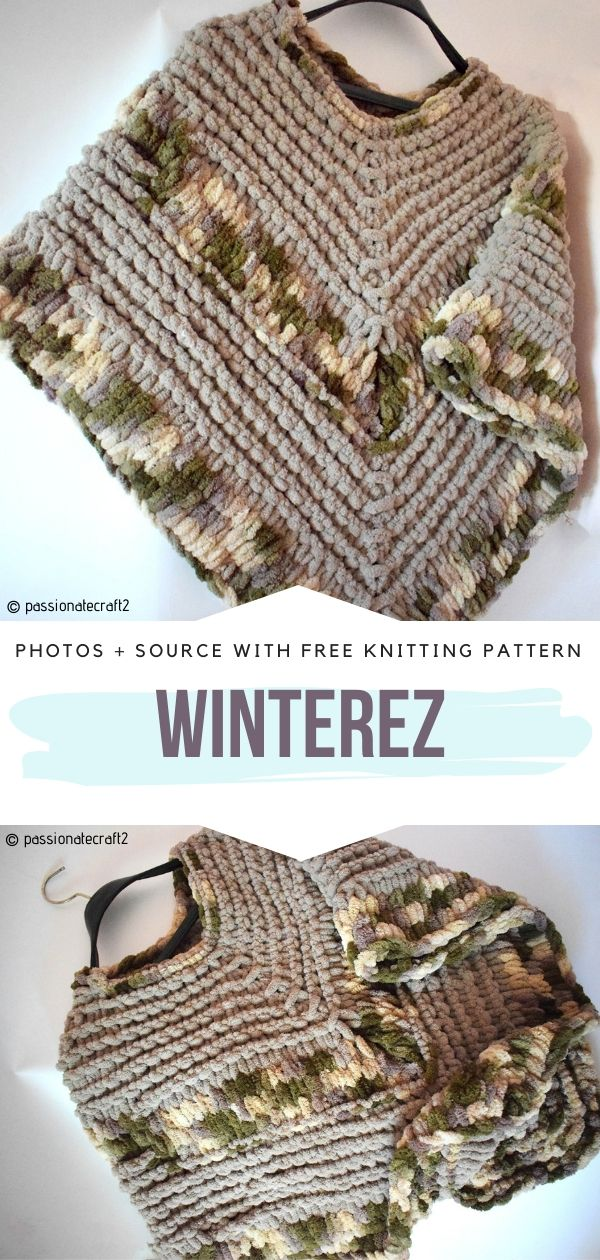 Sweet and Chunky Ponchos for Kids with Free Knitting Patterns