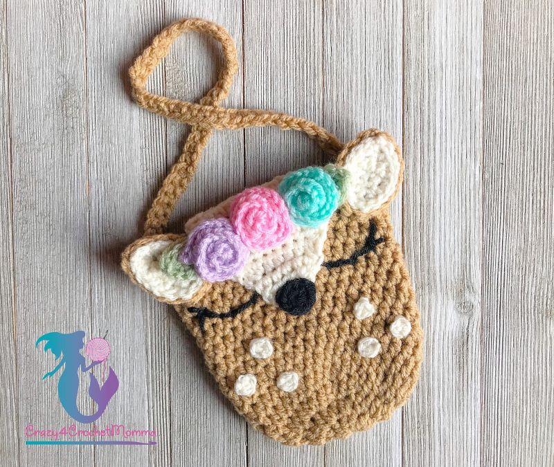 Crochet Deer Purse