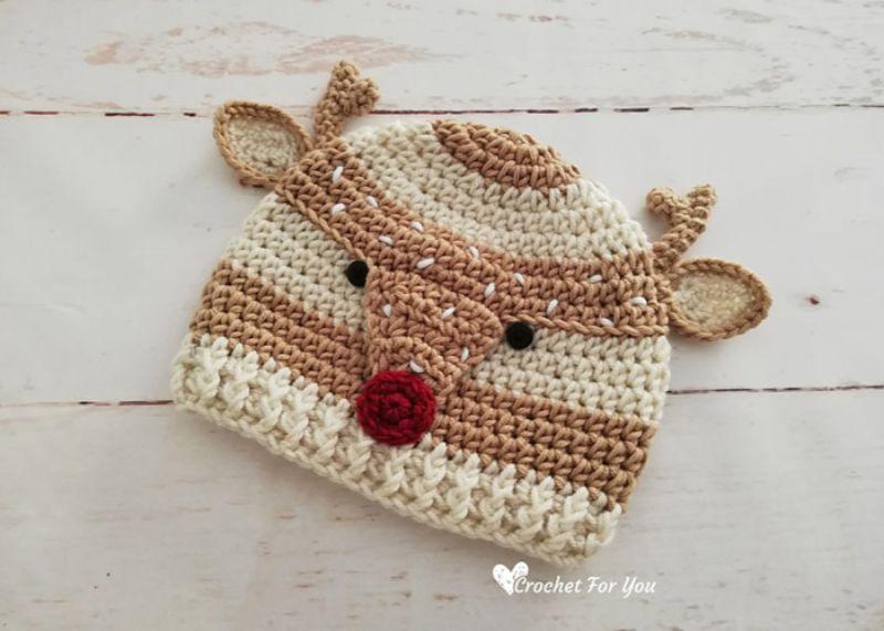 Crochet Deer Hat