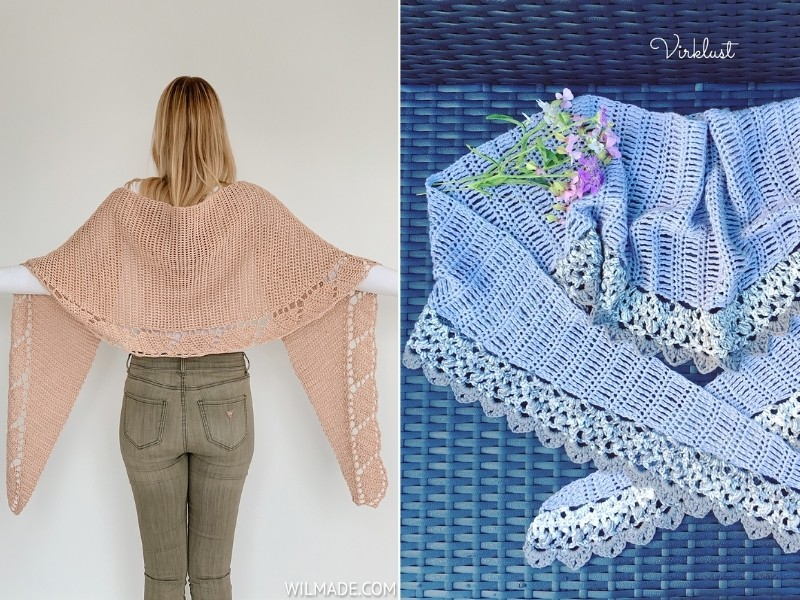 Shawls with Stunning Edging with Free Crochet Patterns