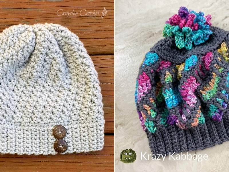 Gorgeous and Easy Beanies with Free Crochet Patterns