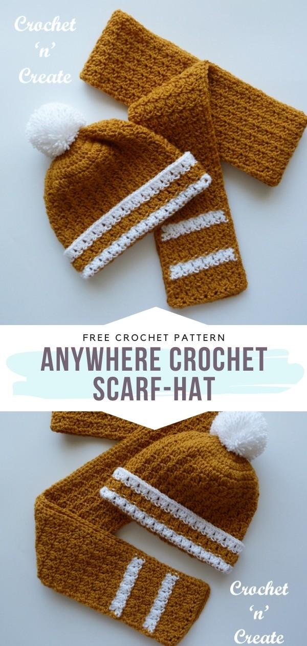 Crochet Scarf-Hat