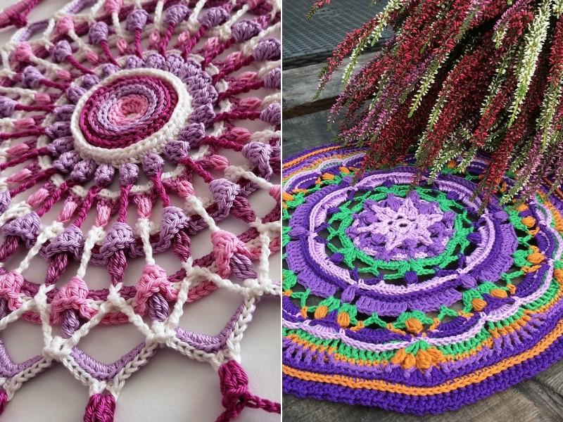 Alluring Flower Mandalas Free Crochet Patterns