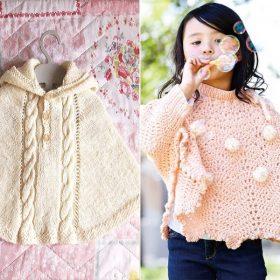 Baby Girl Ponchos Free Knitting Patterns