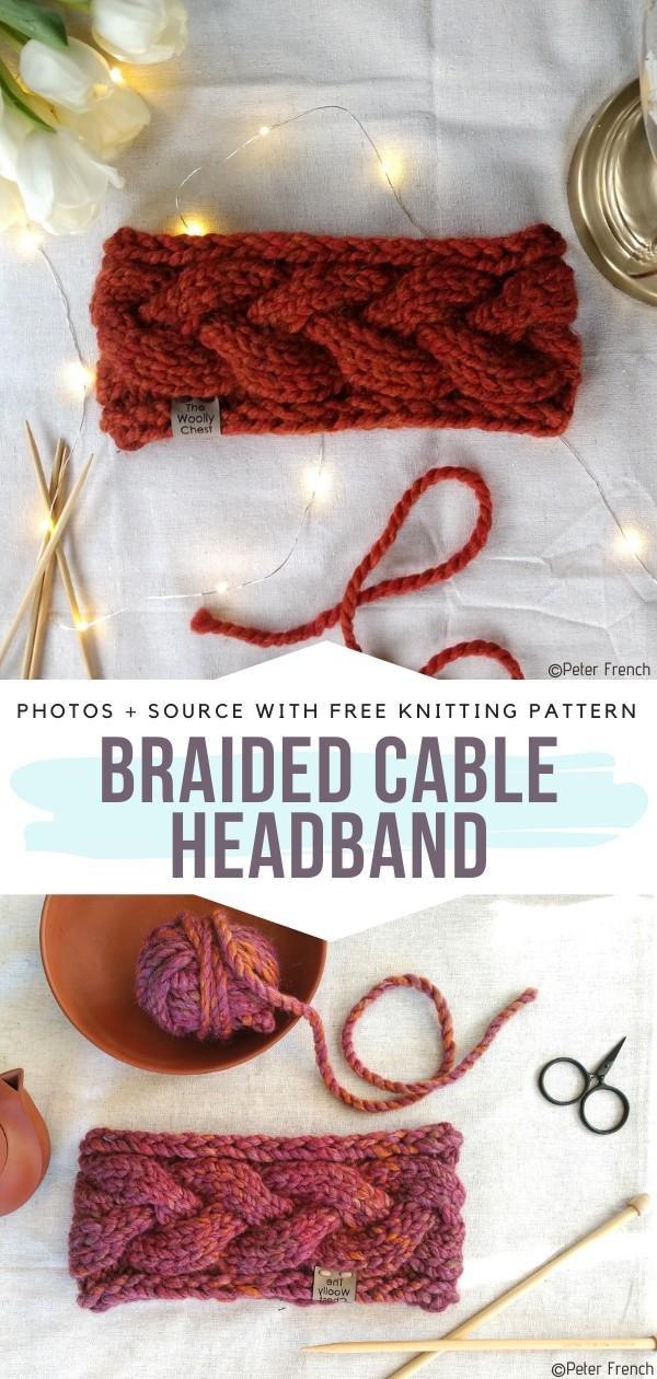 Braided Cable Headband Free Knitting Pattern