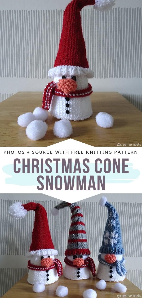 Christmas Cone Snowman