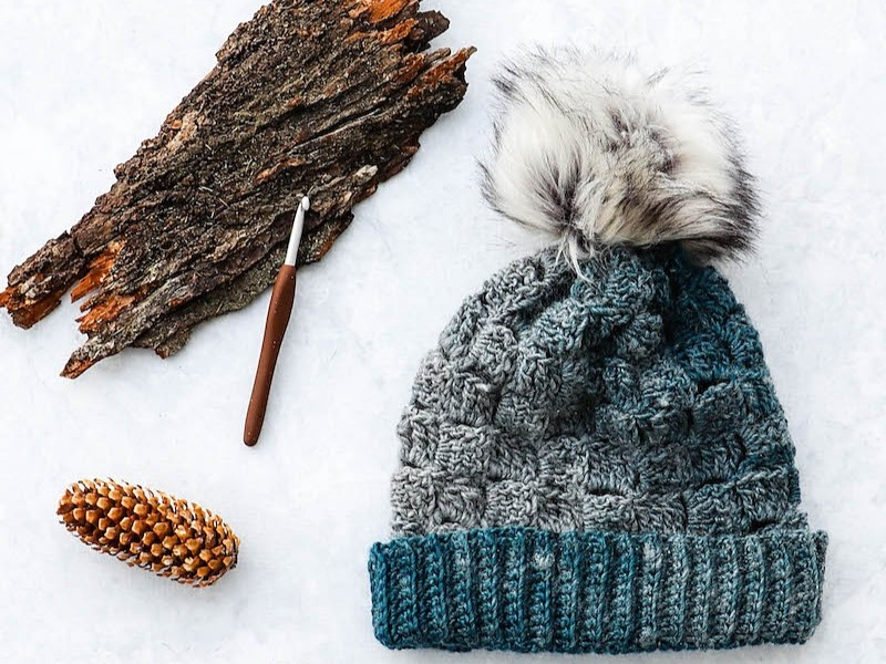 Chunky Textured Hats Free Crochet Patterns