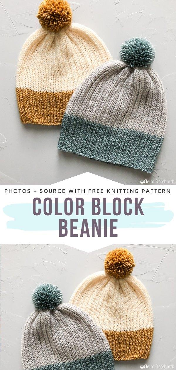 Color Block Beanie